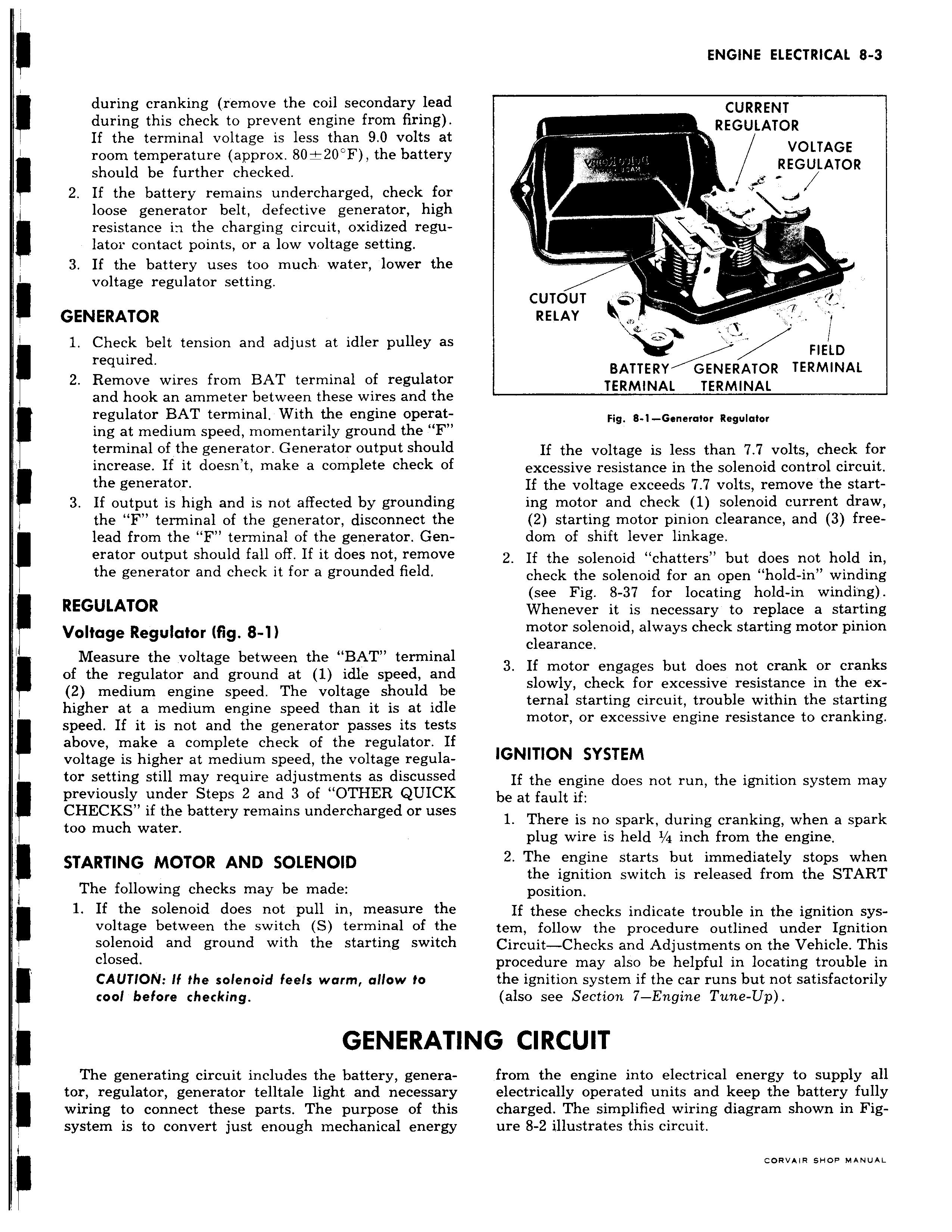 Gmpartswiki Corvair Shop Manual January 1961 3 Terminal Solenoid Wiring Diagram