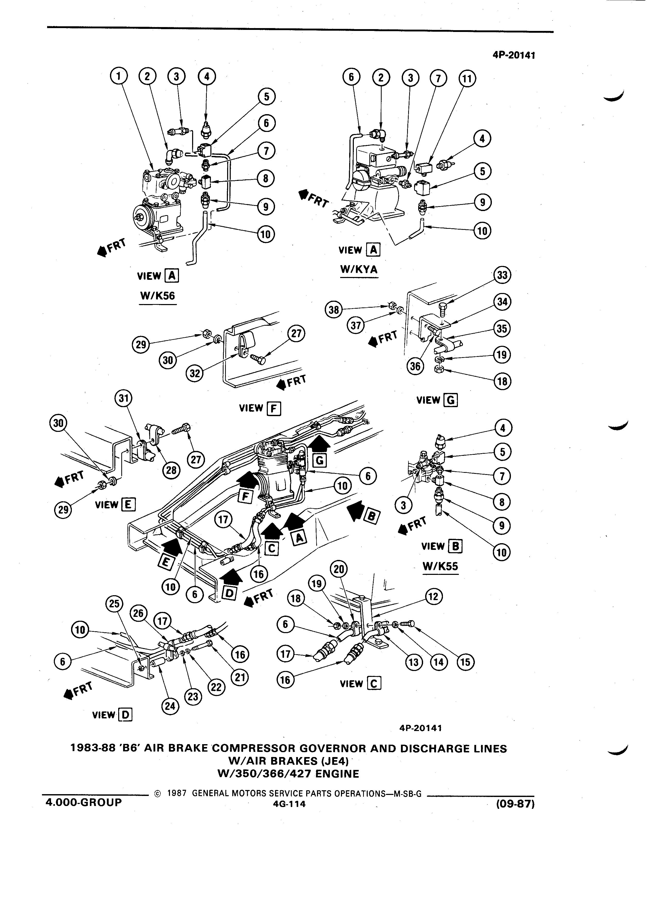Gmpartswiki Parts And Illustration Catalog M Sb September 1987 427 Engine Diagram